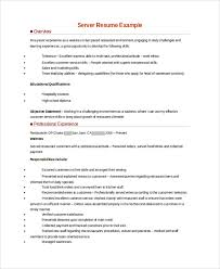 Server Resume Extraordinary 60 Server Resume Samples Sample Templates