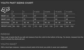 Fox Youth Boots Size Chart 22 Precise Fox Boots Size Chart