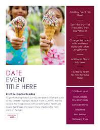 Flyer Templates Word Event Flyer Summer
