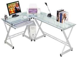 techni mobili rta 3802 tempered glass computer desk this unique piece lets you work on the