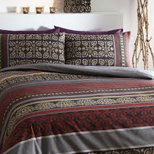 fusion deep red and grey modern duvet cover sets 9 99