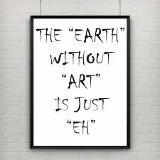 Abstract EARTH Epigram Canvas Painting Black White Wall Art Posters New Quotes About Painting