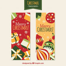 Vertical Christmas Banners Vector Free Download