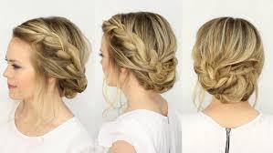 French Braid Updo Hairstyles Fancy French Braid Updo Missy Sue Youtube