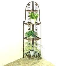 corner plant stand diy outdoor shelf metal shelves corne