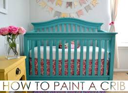 painted baby furniture. How To Paint A Crib (on Any Nursery Furniture) Safely - Project Painted Baby Furniture Pinterest