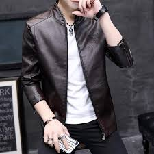 best ing men s leather jacket 2019 korean fashion pu leather spring and summer jacket men s coat