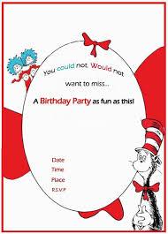 Online Birthday Invitations Templates Extraordinary Dr Seuss Birthday Invitation Free Template Invitations Online Dr