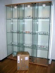 glass cabinet lighting. Ikea Glass Display Case Cabinet Light All Lighted Curio Lock Lighting For M
