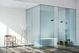water clear glass sliding and fixed doors built in sliding system