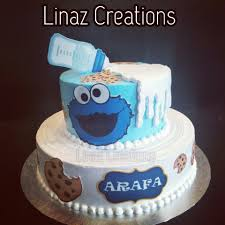 Cookie Monster Theme Birthday Cake Need A Customised Cakes Contact