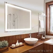 Wall mounted bathroom mirror Cosmetic Edison 30x36 Horizontalvertical Wall Mounted Backlit Vanity Bathroom Led Mirror With Touch On Bellacor Bathroom Mirrors Vanity Mirrors Bellacor