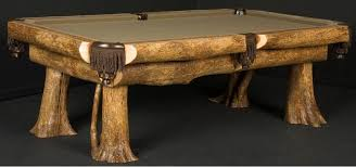 custom made ironwood billiard table