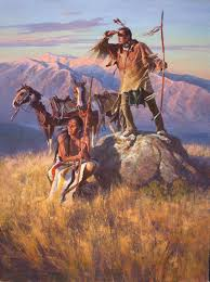 lookout rock by jim norton oil legacygallery com western art collector native americans native american art and native american indians