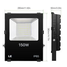 le 150w led high power flood lighting spot security ip65 outdoor garden daylight