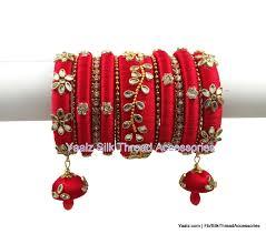 Bridal Bangle Set Designs Heavy Kundan Stone Elegant Bridal Bangles Set In Red Color