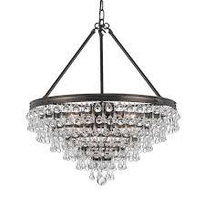 calypso teardrop large chandelier bronze