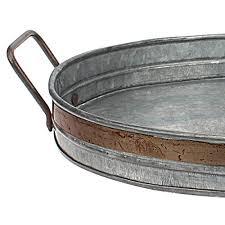 stonebriar galvanized metal serving