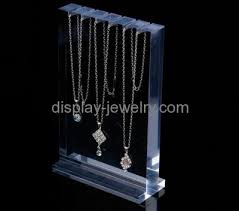 custom jewellery stands whole clear table top display stands necklace jewelry stand ndj 055