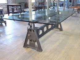 iron industrial furniture. vintage industrial american made adjustable cast iron table base tables all furniture