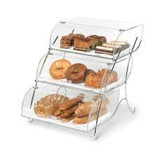 Acrylic Food Display Stands Rosseto BAK100 100Tier Countertop Bakery Display Case Wire Stand 25