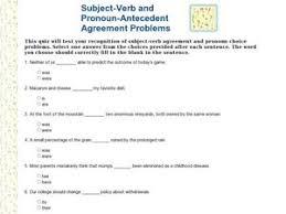 Pronoun Antecedent Agreement Pronoun Antecedent Agreement Lesson Plans Worksheets