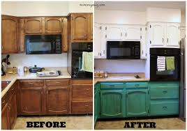 Chalk Paint Kitchen Cabinets Before And After Kitchen Cabinets Idea Great Pictures