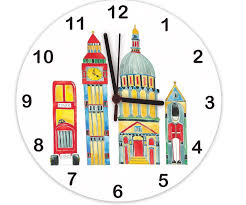 london clock kids clock wall clocks