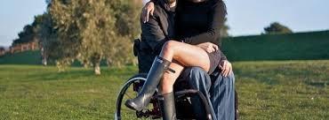 Wheelchair lesbian in the park