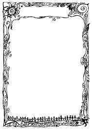 word for black and white fancy borders for word documents seivo clipart best
