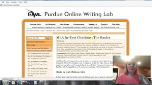 Navigating Purdue Owl Mla Style