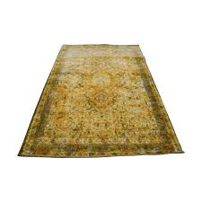 obeetee obeetee yellow hand tufted wool rug second hand