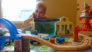 thomas the tank engine and friends s playing toy thomas the train wooden railway for kids you