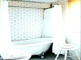 full size of bathroom ideas clawfoot tub shower small with and separate curtain curtains for make
