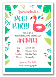Pool Party Invites Pool Party Invitation Card Template