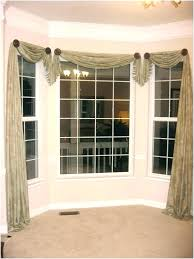 curtains on a bay window drapes for windows full size of d75