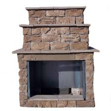 fossill brown grand outdoor fireplace kit