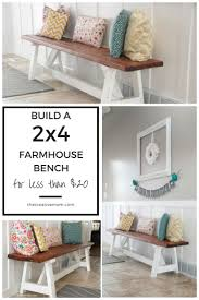 farmhouse style furniture. how to build a 2x4 farmhouse bench for less than 20 style furniture