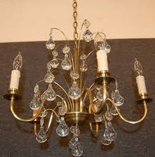 vintage swedish brass and crystal chandelier orrefors for pertaining to incredible property vintage brass chandelier prepare