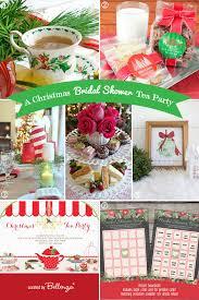 Christmas Tea Party Invitations Christmas Bridal Shower Tea Party Ideas