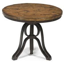 table interesting rondell industrial style round end table with with round adjule height coffee table