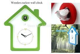 bird clocks with sound wall
