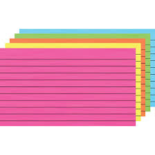 3x5 Cards Ruled Bright Index Cards By Top Notch Teacher