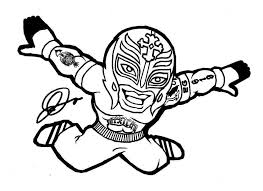 Wwe Coloring Pages Of Rey Mysterio For Work Wwe Coloring Pages