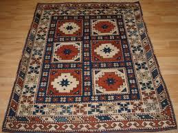 old turkish bergama rug of small size compartment design circa 192030
