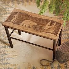 Bear Coffee Table Black Bear Decor Bear Gifts Black Forest Decor
