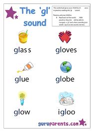 preschool letter worksheet gl sound