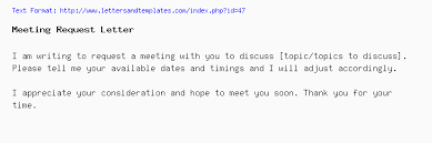 Request Emails Sample Meeting Request Email And Letter Sample