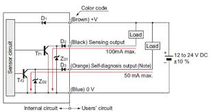 robust photoelectric sensor rx i o circuit and wiring diagrams i o circuit diagrams receiver of thru beam type sensor