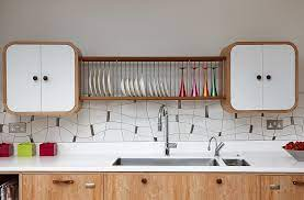 trendy ways to add a plate rack